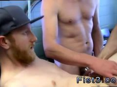 Male erotic cum gay First Time Saline Injection for Caleb