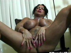 Big tits muscled ebony mature
