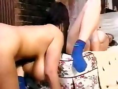 Busty brunette lesbian babes have some hot girl on girl action