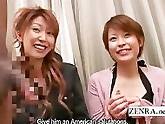 Subtitled Japanese CFNM party with endowed black man