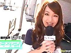 AzHotPorn.com - Real TV Reporter Bukkake Facials