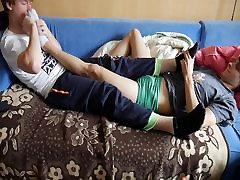 Amateur feet massage