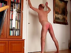 self-spank and posing for SIR