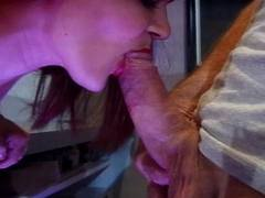 Midget squirts for a facial