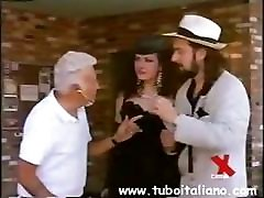 Chubby mature Italian gets hammered in a threesome at the club