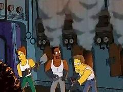 Simpsons Cartoon Sex: Homer fucking Marge