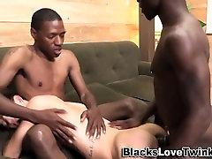 Interracial threeway cums