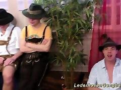 hot german girls lederhosen gangbanged