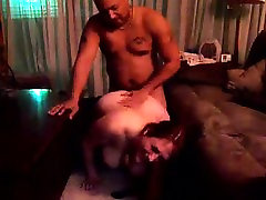 Fat redhead enjoys getting fucked from behind by dark