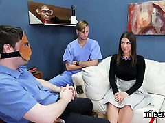 Nasty nympho is taken in anal nuthouse for painful therapy