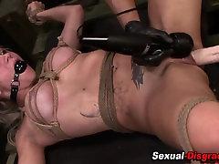 Rough bdsm slut toyed