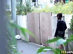 Public asian schoolgirl