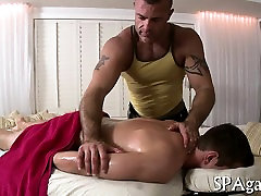 Wild homo massage session with raucous anal riding