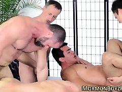 Bear sodomizes mormon ass