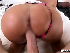 Big ass brunette girl with big boobs gets fucked
