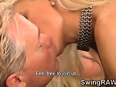 Mature couple takes part of orgy in swingers reality show