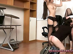 Guy Brutal Dominated by 2 femdoms