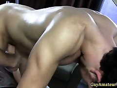 Straight guy gets his ass toyed massage