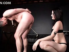 BDSM fucking with mature male sex slave