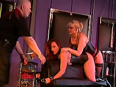 Nina Hartley and Earnest in BDSM action with a big tits redhead