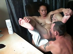 Asian wife get licked untill orgasm
