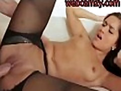 Cheating Girl in Black Stockings Hard Fucked - webcamzy.com