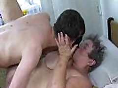 Fat nanny gets fucked with dildo