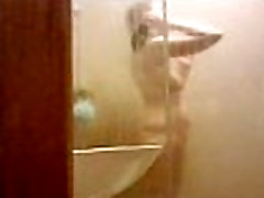 Spying on wife in shower