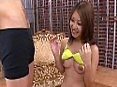 Perverted asian angel gets teased