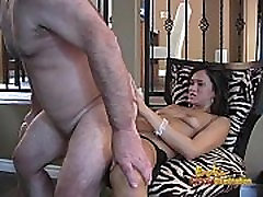 Kinky mature stud enjoys being rammed by a delicious brunette babe