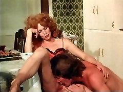 away from home redhead fucked in the dining room