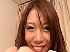 Japanese babe receives a hard fuck