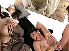Two couples of mature swingers fucking