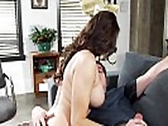 Mature beauty sucks and tuggs clients dick