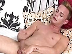 Hot British twink Cameron James loves solo masturbation
