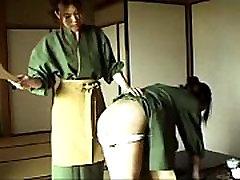 064 Waitress At Japanese Inn - Spanking