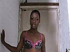 Gorgeous ebony lady sucks white dicks and gangbang fucking 5