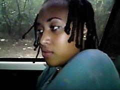horny ebony from BlacksCrush.com in the car