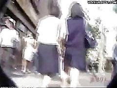 Walking upskirt panties