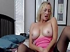 Sensual busty blond mother knows all about the pleasure