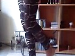 ask girl playing with high heels please comment