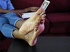 Sexy Ebony Girl Nikki Removing Boots Showing Her Bare Feet - SolefulNikki.com
