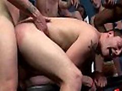 Barebacking Gay Hardcore Bukkake Party Sex 20