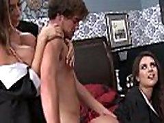 Latina femdoms pleasured with cock