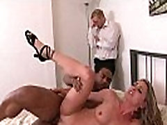 Husband lets his hot two busty moms available addams enjoy a big black cock