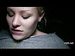 Stranded teenie fucked hard by rescuer