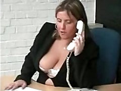 British Big titted Office fuck