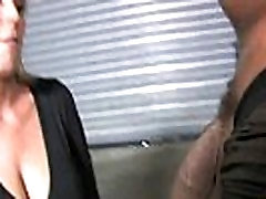 Mature Mom barely takes 10 inch Black Cock 29