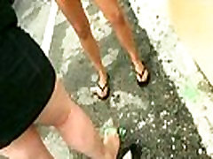 Sexy exhibitionist GFs are paid cash for some public fucking 23