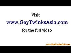 Barebacking asian twink gets a facial